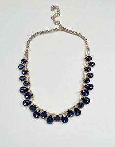 Ожерелье с подвесками в форме капли Coast - Темно-синий