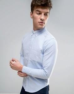 Обтягивающая оксфордская рубашка с карманом Abercrombie & Fitch - Синий