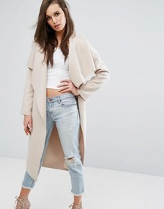 Легкое пальто с каскадной драпировкой Missguided - Розовый