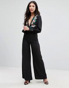 Комбинезон с вышивкой Glamorous - Черный