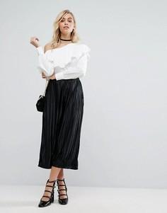 Плиссированные брюки Fashion Union - Черный
