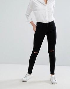 Рваные джинсы скинни Only Royal - Черный