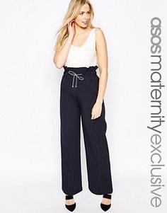 Широкие брюки для беременных ASOS Maternity - Темно-синий
