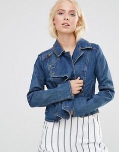 Джинсовая куртка на пуговицах Free People - Синий