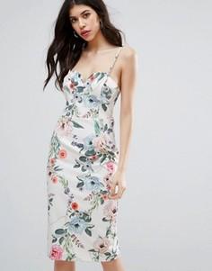 Платье миди с цветочным принтом Talulah Melrose - Мульти