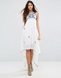 Платье с каскадной драпировкой Raga Santorini - Белый