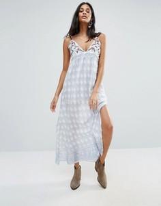 Платье макси с принтом Raga Santa Barbara - Синий