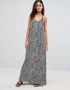 Пляжное платье макси с принтом Echo - Черный