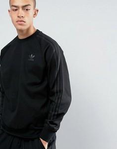 Черный свитшот с круглым вырезом adidas Originals Deluxe BJ9536 - Черный