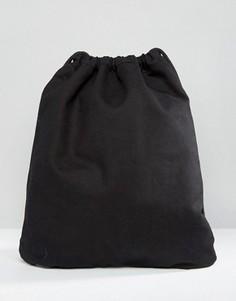Черная парусиновая сумка на шнурке Mi-Pac - Черный