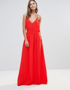 Платье макси Y.A.S Flawless - Кремовый
