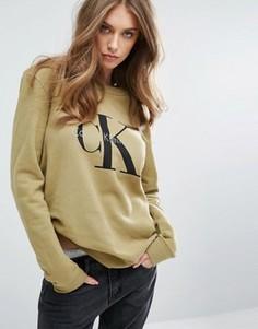 Свитшот с логотипом Calvin Klein Jeans - Зеленый