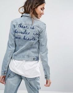 Джинсовая куртка с вышивкой Only - Синий