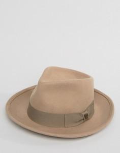 Мягкая фетровая шляпа Brixton Swindle - Серый