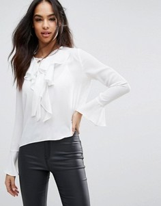 Блузка с оборками Boohoo - Белый
