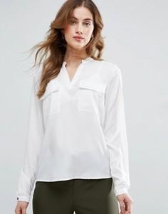 Рубашка с карманами Vila - Белый