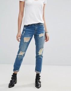 Рваные джинсы бойфренда J.D.Y - Синий JDY