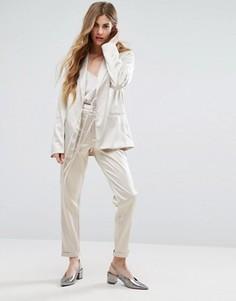 Сатиновые брюки Vila - Белый