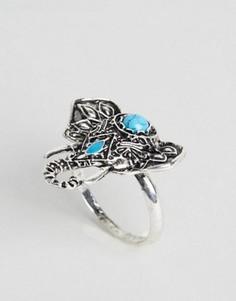 Кольцо с отделкой в виде слона DesignB - Серебряный
