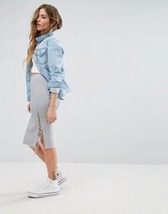 Облегающая юбка со шнуровкой по бокам Glamorous - Серый