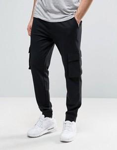 Черные джоггеры с карманами-карго YOURTURN - Черный