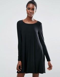Платье-футболка с длинными рукавами Traffic People - Черный