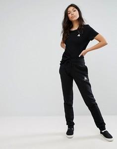 Узкие спортивные брюки с начесом Le Coq Sportif - Черный