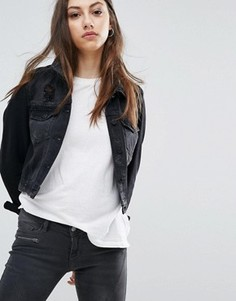 Джинсовая куртка Noisy May Dizzy - Черный
