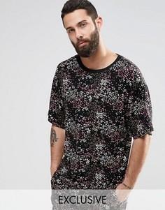 Oversize-футболка с принтом Reclaimed Vintage - Черный