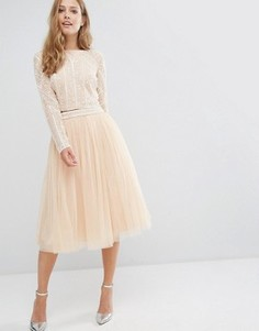 Тюлевая юбка миди Maya - Розовый