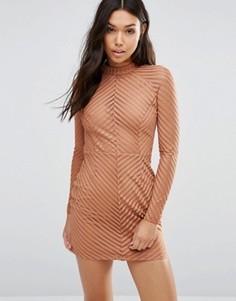 Облегающее платье Boohoo - Коричневый