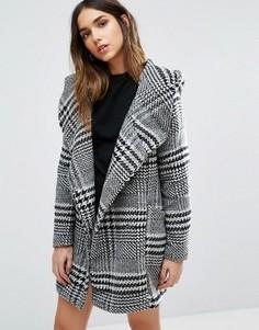 Клетчатая куртка с ремнем Vero Moda - Белый