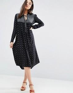 Платье со вставками d.RA Penelope - Темно-синий