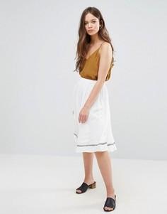 Юбка с вышивкой Vero Moda - Белый