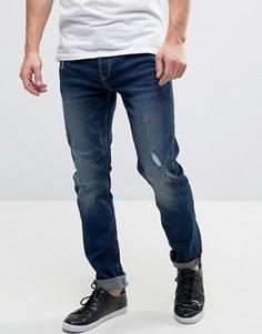 Темно-синие узкие джинсы Only & Sons - Синий