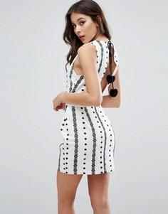Платье с вышивкой The English Factory - Белый