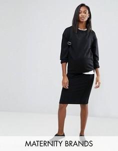 Узкая юбка до колен Mamalicious - Черный Mama.Licious