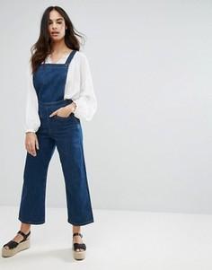 Широкий джинсовый комбинезон MiH Jeans Denny - Синий