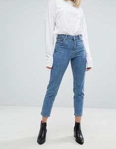 Узкие джинсы в винтажном стиле с завышенной талией Dr Denim Edie - Синий