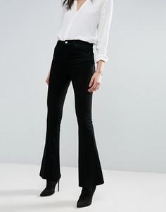 Черные расклешенные джинсы со стрелками ASOS - Черный