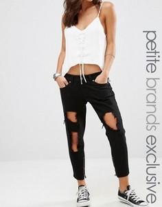 Рваные джинсы скинни Liquor & Poker Petite - Черный