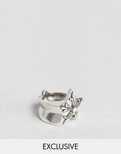 Кольцо со звездочками Reclaimed Vintage - Серебряный