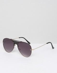 Солнцезащитные очки-авиаторы ASOS - Черный