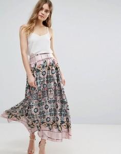 Плиссированная юбка с принтом Traffic People - Мульти
