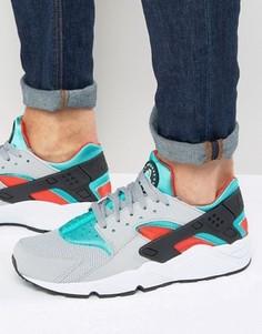 Серые кроссовки Nike Air Huarache 318429-023 - Серый