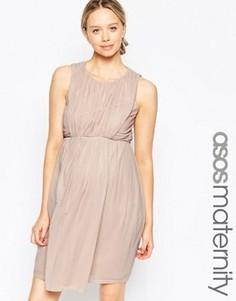 Платье-тюльпан мини для беременных ASOS Maternity - Розовый