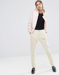 Классические брюки скинни песочного цвета Vila - Рыжий