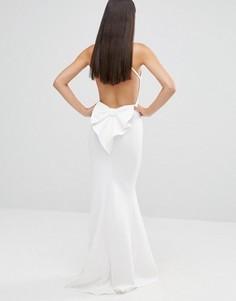 Платье макси с бантом и открытой спиной City Goddess - Белый