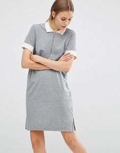 Спортивное платье-поло Just Female - Серый