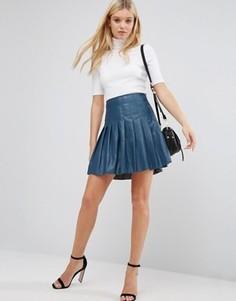 Полиуретановая юбка в складку Lavand - Синий